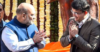 Sourav Ganguli with amit shah