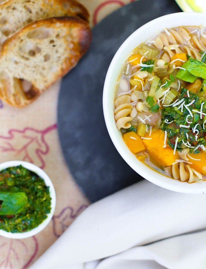 squash and bean minestrone soup