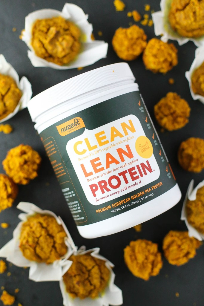 healthy sweet potato turmeric grain free protein muffins