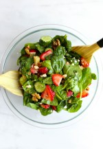 STRAWBERRY SPINACH SUMMER SALAD with Apple Cider Vinaigrette