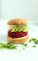 BEET AND CHICKPEA VEGAN BURGERS