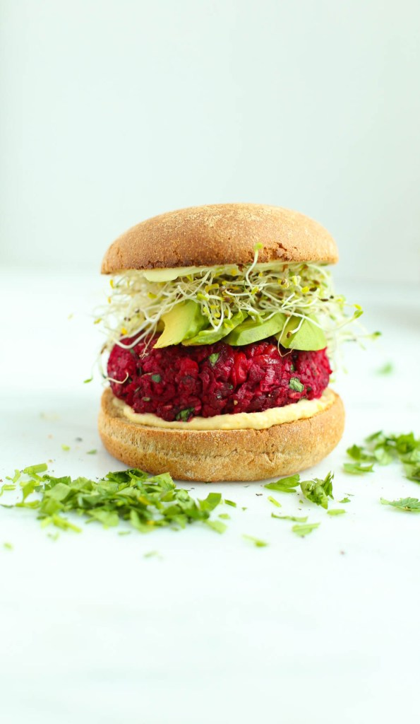 beet, chickpea, vegan, burger, healthy recipes, lunch, dinner, clean eating, vegetarian, gluten-free, dairy-free, low calorie