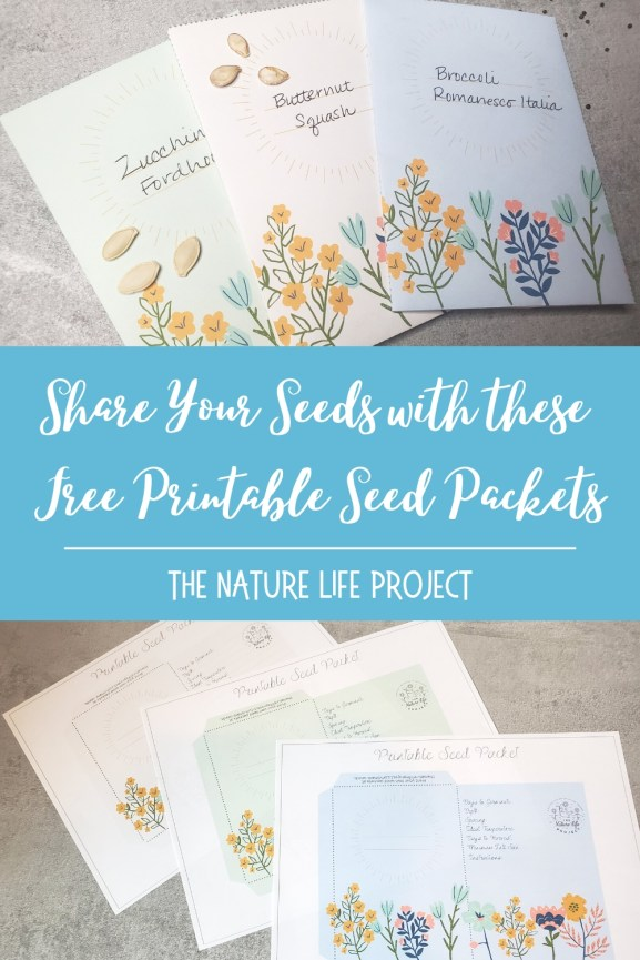 Share your seeds with these free printable seed packets!