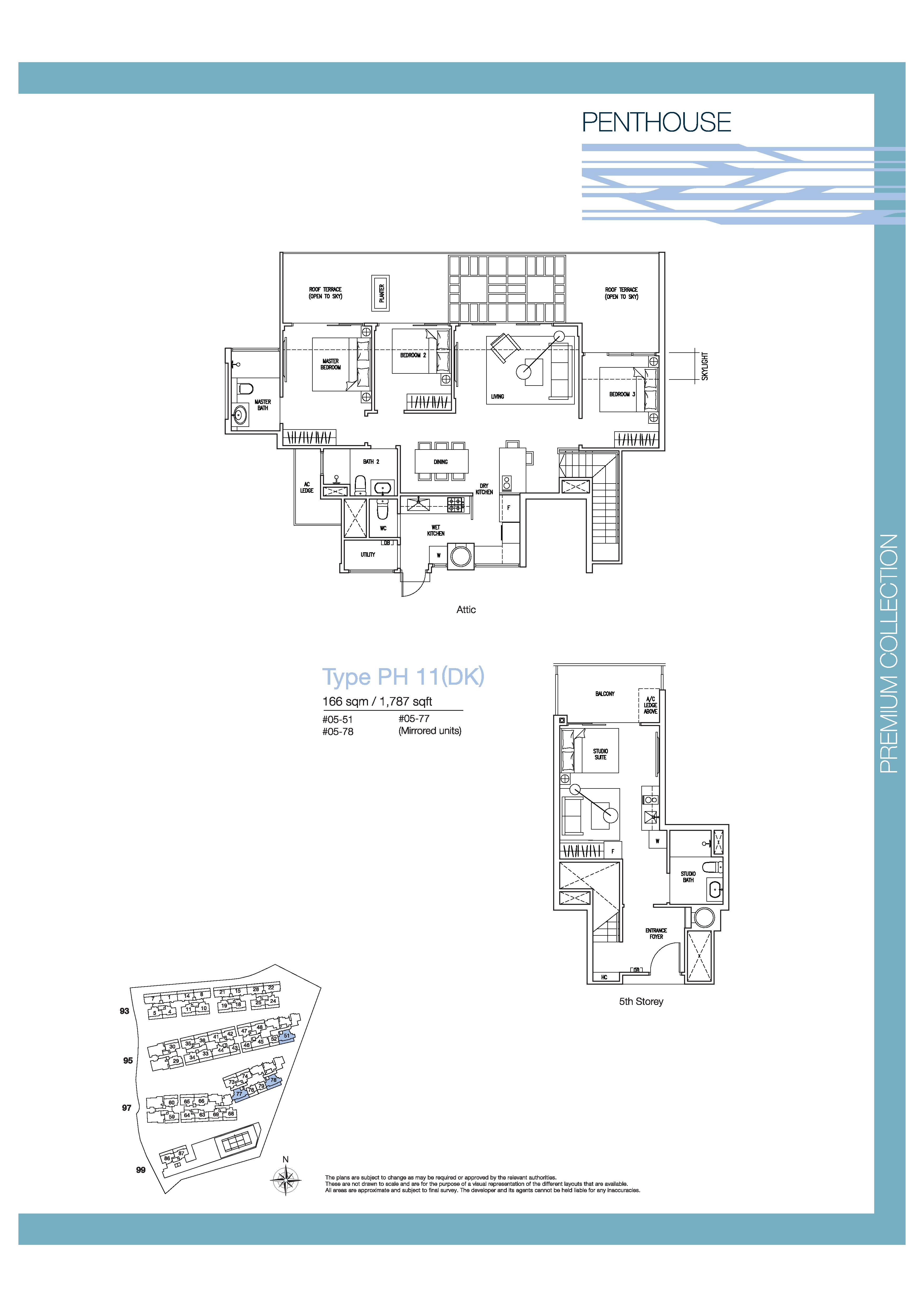 The Nautical 4 Bedroom Dual Key Penthouse Floor Plans Type PH11(DK)