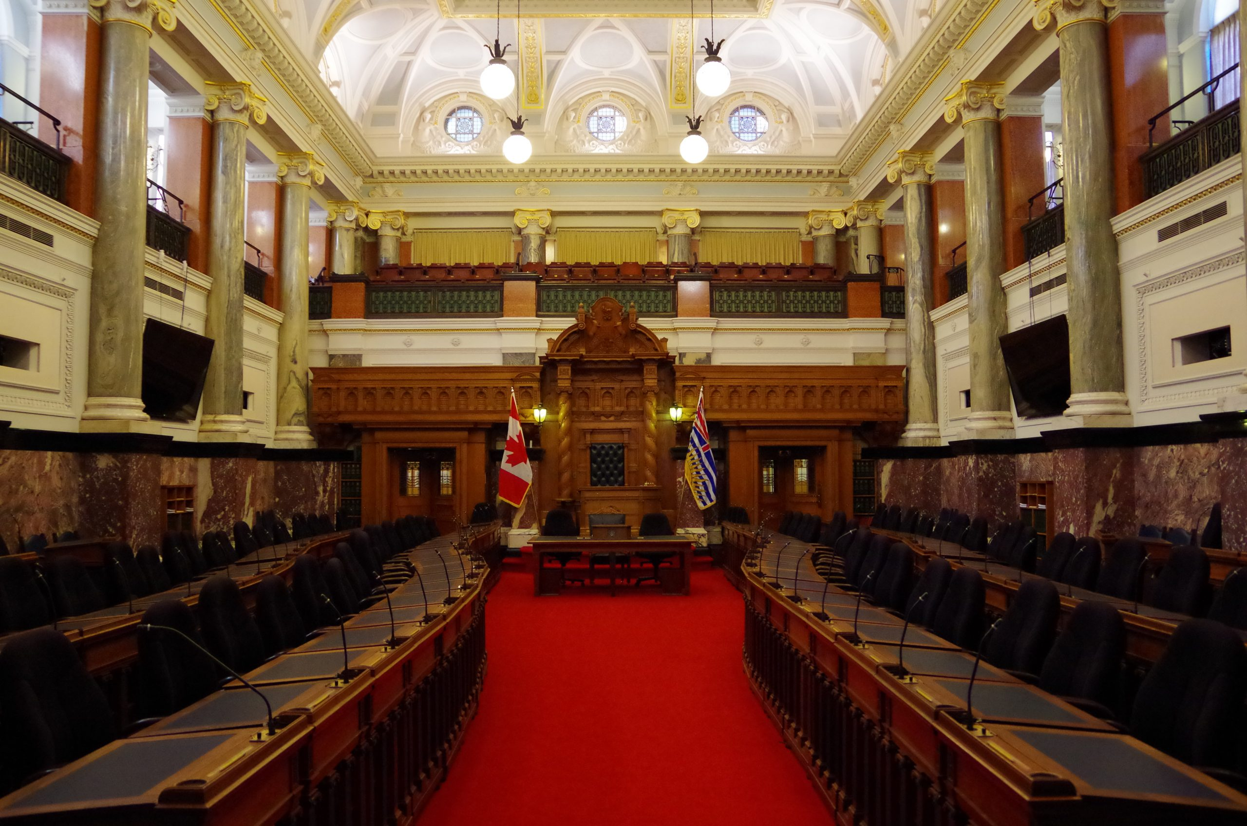 Inside the BC Parliament Building