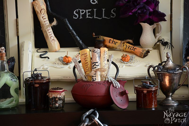 Halloween decoration ideas | Halloween home tour | DIY Halloween props | Spooky Halloween decor | TheNavagePatch.com