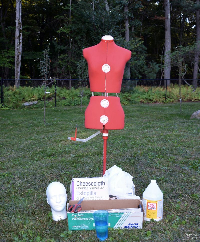 Halloween Ghost Prop {Life-Size} | A Life-Size Halloween Prop | How to make a ghost for Halloween | DIY Halloween decor | Easy & budget crafts | DIY Life-size ghost | Spooky and gothic decor | Upcycled Halloween decor | TheNavagePatch.com
