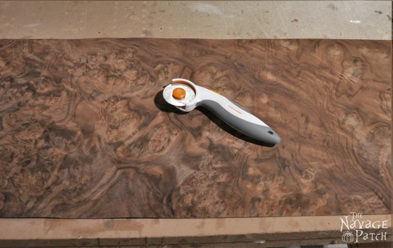 Veneer & Loathing | Antique desk makeover using exotic wood veneer and chalk paint | Diy veneer tutorial | How to apply veneer | How to replace veneer | Diy furniture makeover and woodworking | DIY Chalk Paint | Refurbished desk | Before & After | TheNavagePatch.com