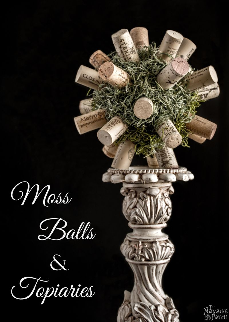 DIY Moss Balls and Topiaries | DIY moss topiary and faux moss balls | How to make a topiary the easy way | DIY French Country style home decor | How to make a moss ball | Upcycled spring decoration | #TheNavagePatch #Upcycled #DIY #crafts #FrenchCountry #Farmhouse #Springdecor | TheNavagePatch.com