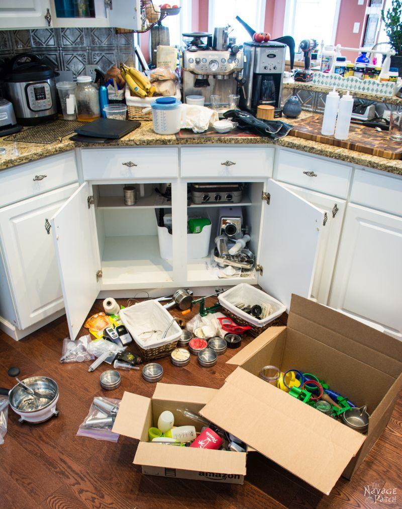 Our messy kitchen and messy kitchen counter tops