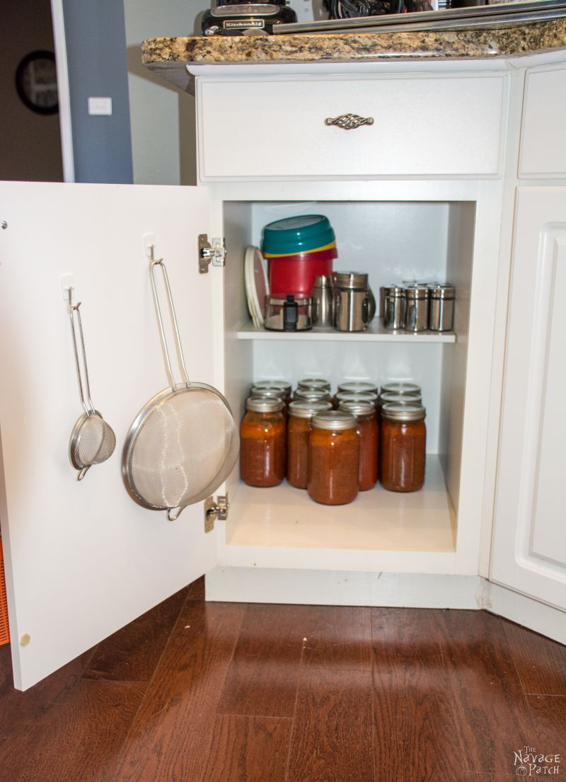 cabinet with jars