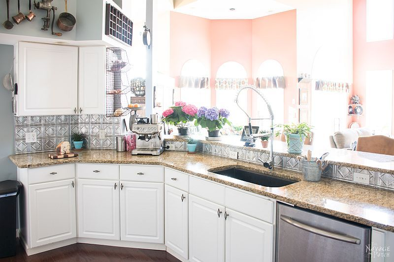 clean kitchen with uncluttered counterop