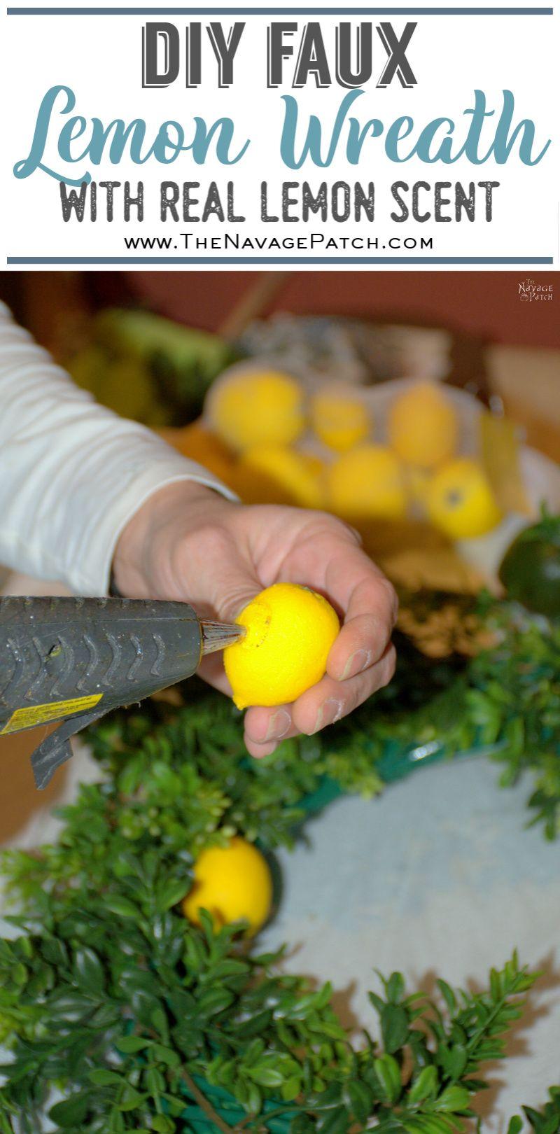 DIY Summer Lemon Wreath pin image