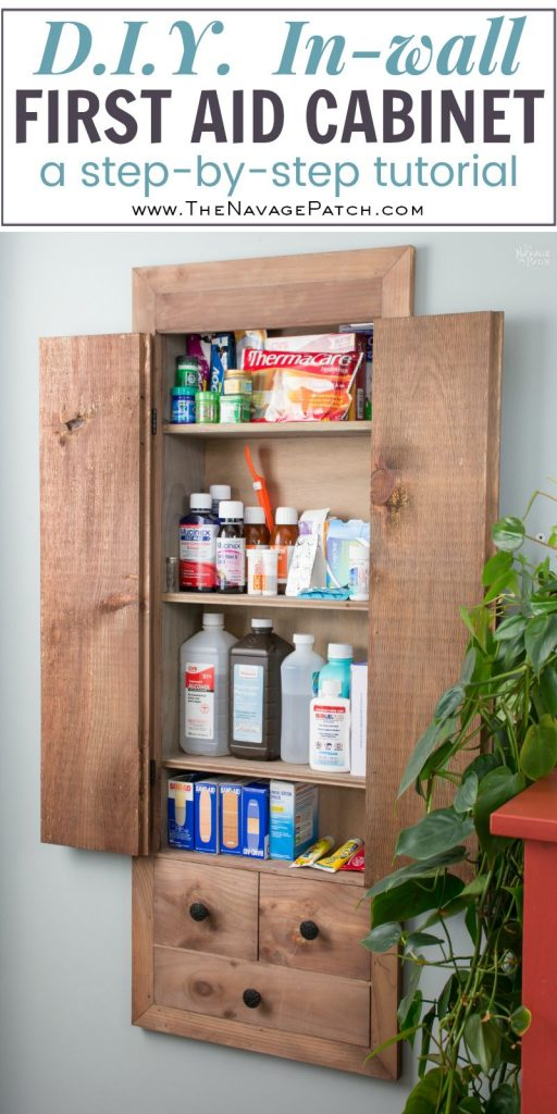 Space Hacker: DiY In-Wall First Aid Cabinet | A step-by-step in-wall built-in tutorial | Diy first-aid cabinet | Cabinetry and woodworking | Easy diy furniture on budget | Home decor and organization | #organization made easy with #diy #builtin #cabinet | TheNavagePatch.com