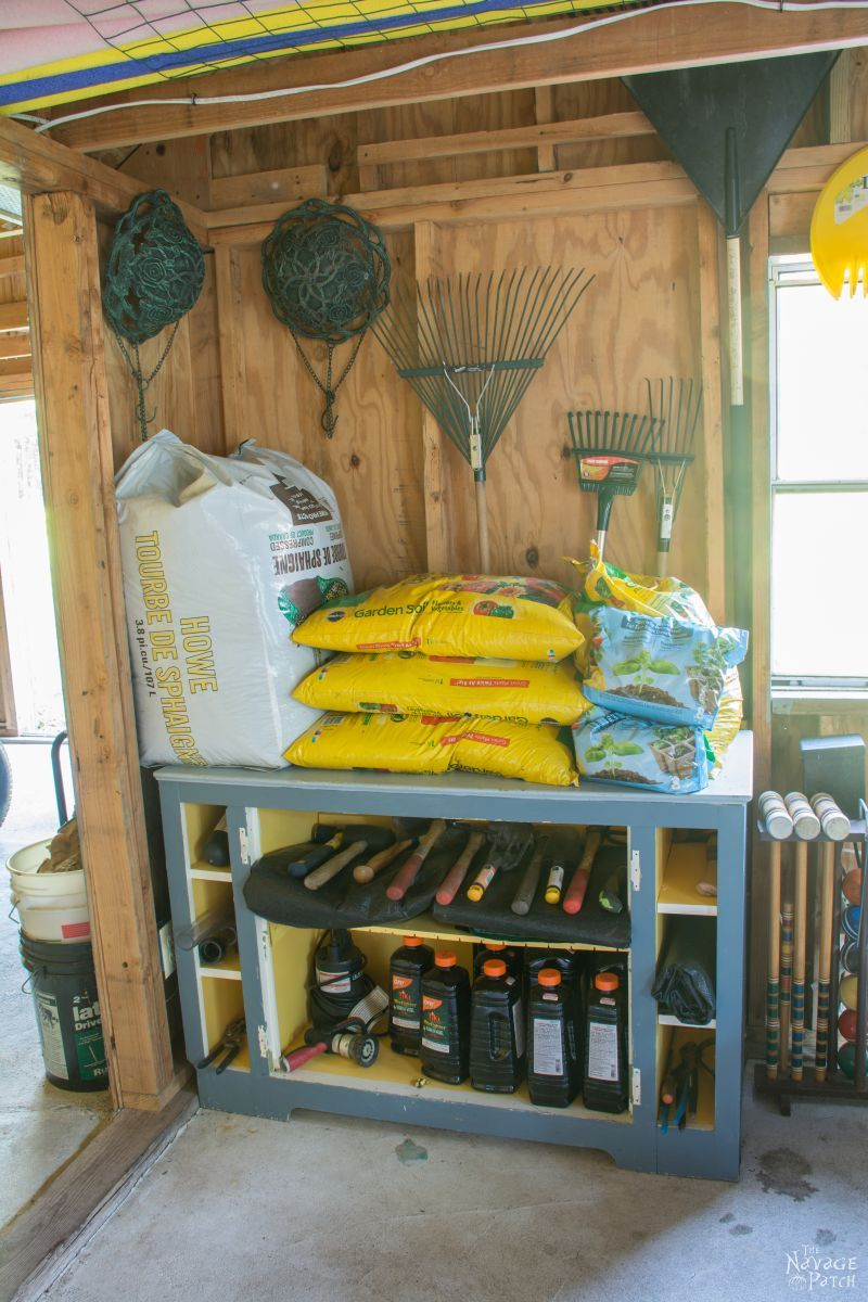 Garden Shed Organization | Creating a Rodent Proof Shed | Simpe and Easy #garden #shed #organization and #cleaning | TheNavagePatch.com
