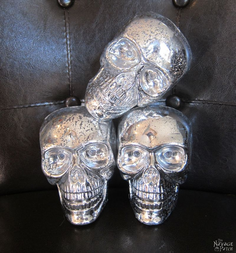 DiY Concrete Skull Candle Holder | DIY Halloween decor | How to make a concrete candle holder | Dollar store crafts | Gothic decor for Halloween | Easy & budget crafts | DIY Halloween prop | Spooky and gothic decor | Upcycled Halloween decor | TheNavagePatch.com