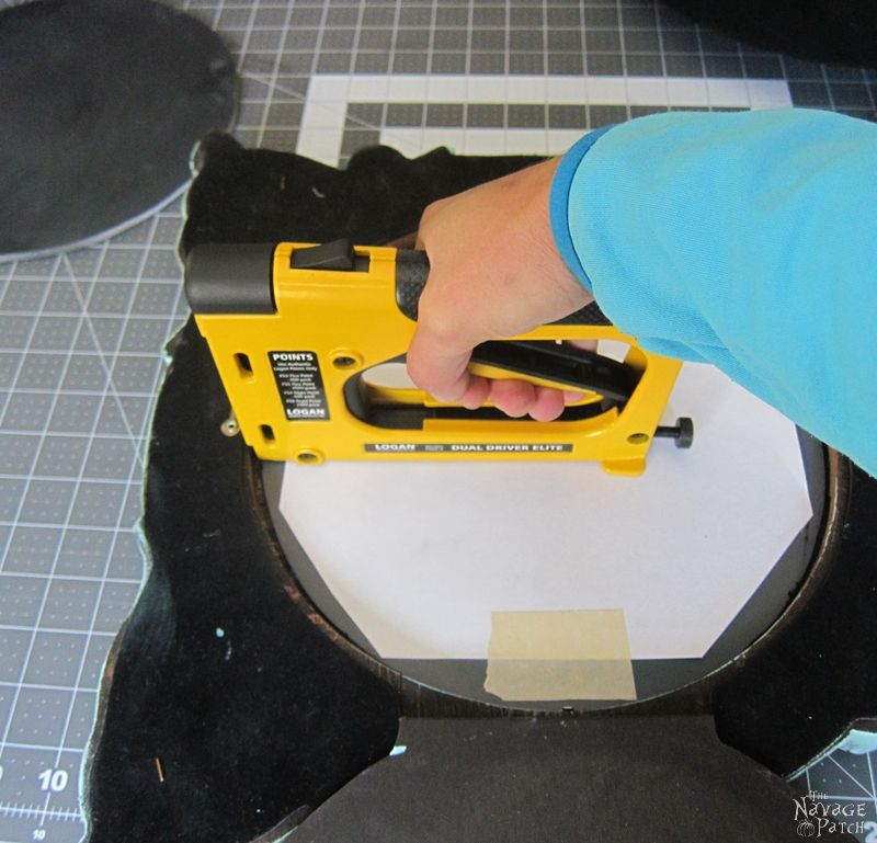 Halloween Haunted Mirror and DIY Chalkboard | How to antique a mirror | Stripping mirror | DIY Halloween decor | Upcycled and Repurposed Halloween decor | DIY chalk paint recipe | Upcycled picture frame | #TheNavagePatch #Upcycle #Repurposed #halloweendecorations #halloween #easydiy #DIY #halloweenparty #haunted #HowTo #gothic #spooky | TheNavagePatch.com