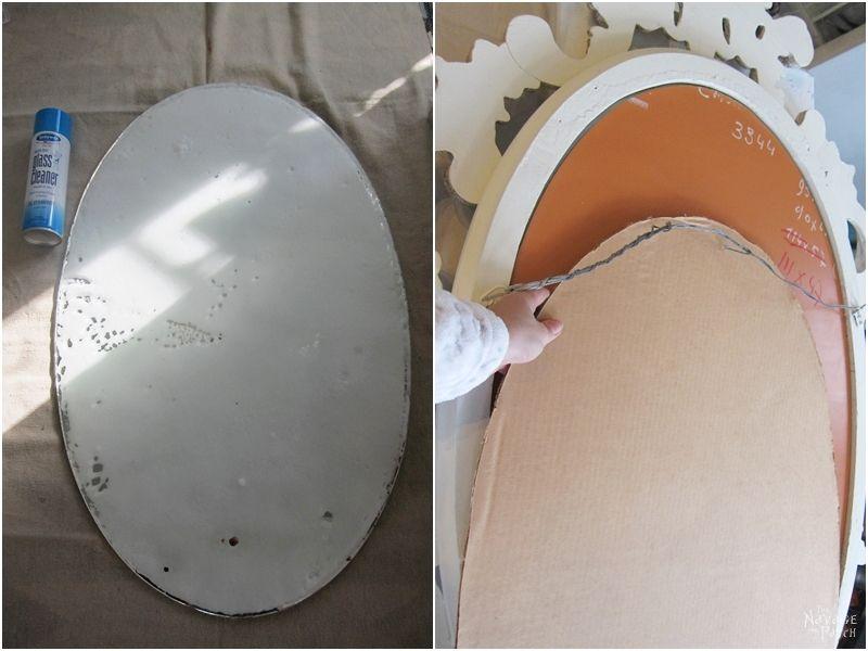 Ornate Mirror Makeover | Free Irish Blessing Stencil Design | How to use metallic wax | DIY chalk paint recipe | Free stencil printable | DIY furniture makeover | How to use homemade chalk paint with paint sprayer | Wagner paint sprayer | #TheNavagePatch #Paintedfurniture #Furnituremakeover #Wagner #freeprintable #freestencil #HowTo #diy #paintsprayer #homedecor | TheNavagePatch.com