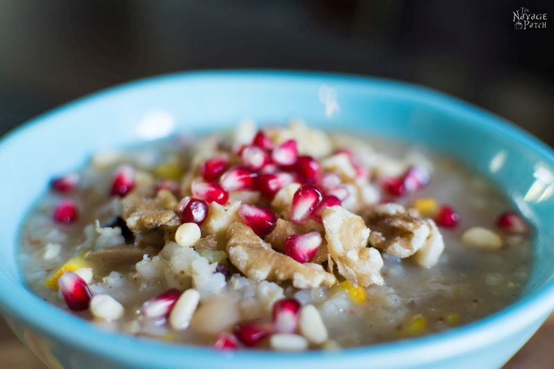 Ashure Noah's Pudding | Aşure | The Oldest Dessert in the World | Turkish Dessert | Porridge | Congee | Vegan Dessert | Grains | Dried Fruit | Nuts | Dessert Recipe | Sweet | TheNavagePatch.com