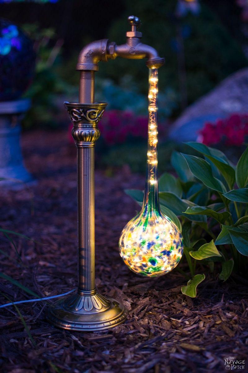 diy waterdrop solar garden lights the