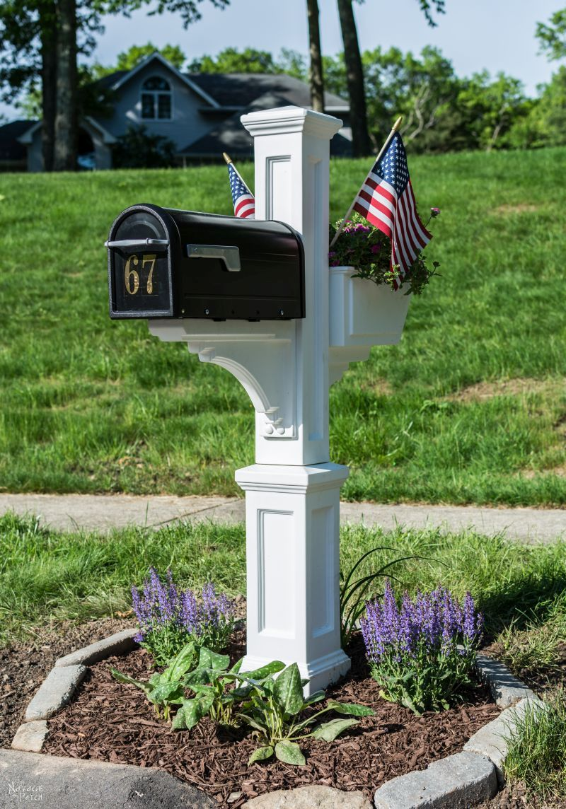 Mailbox Makeover| DIY mailbox and post installation | How install a mailbox | How to increase curb appeal in a budget | How to remove your old mailbox | How to create a mailbox garden | DIY mailbox landscape | Budget friendly Before & After | TheNavagePatch.com