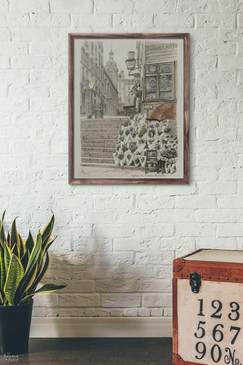 Guest Bathroom Wall Art | Free printable coastal wall art for bathroom | Free printable nautical wall art for bathroom | How to create a gallery wall the easy way | DIY bathroom wall art with upcycled frames | Free printable French wall art for guest bathroom | Leo Fontan - A. P. Martial - Anna Atkins - Ernst Haeckel | #TheNavagePatch #FreePrintable #DIY #GalleryWall #Coastal #Nautical #Upcycled | TheNavagePatch.com