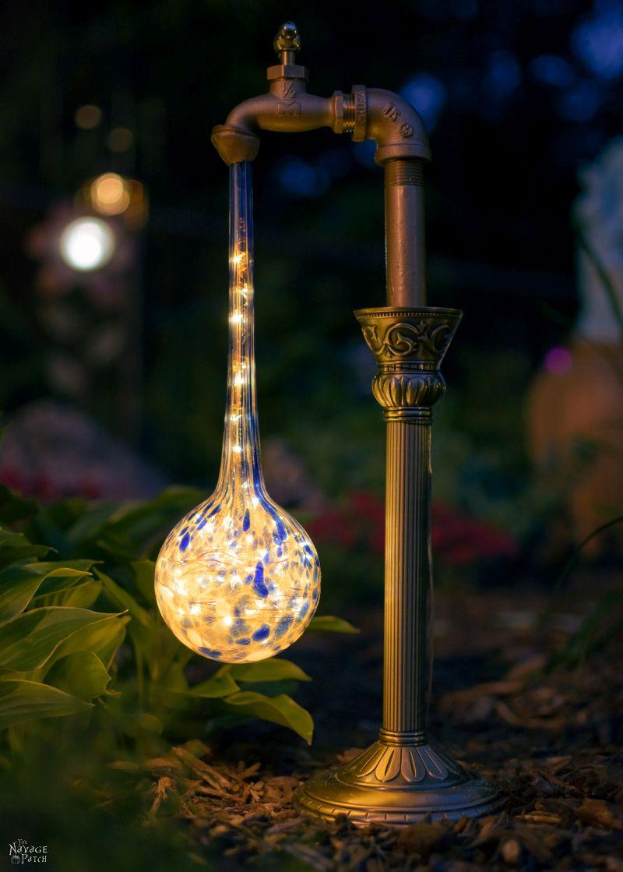 Creative and easy DIY outdoor lighting | DIY waterdrop solar lights | DIY landscape lighting
