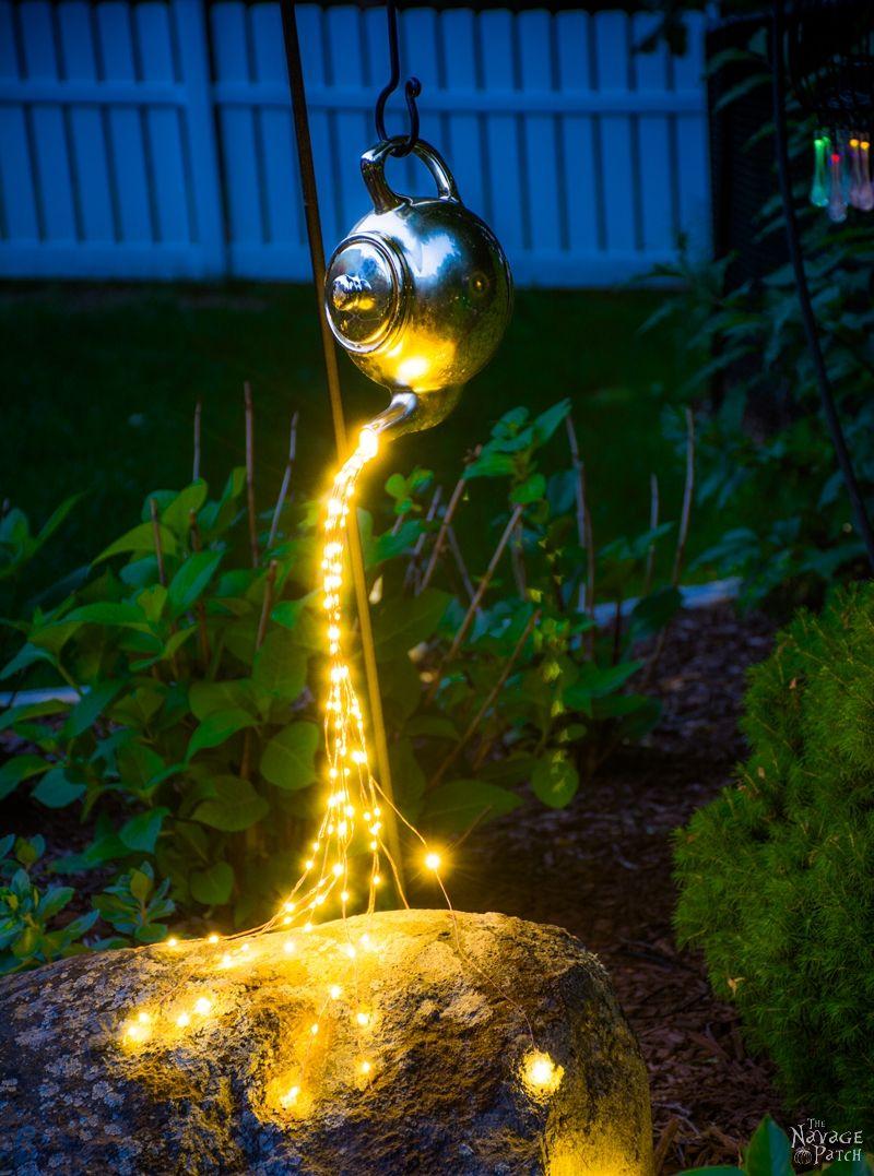 Creative and easy DIY outdoor lighting | DIY spilling solar lights