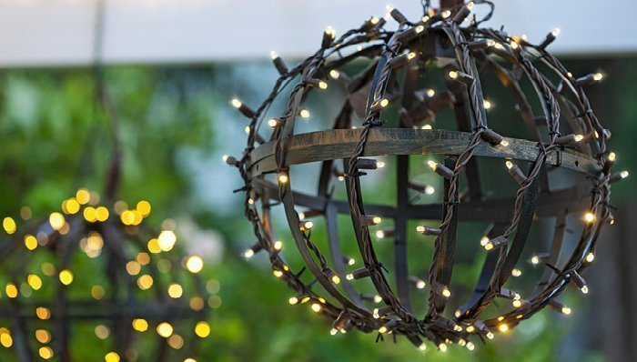 outdoor globe lights