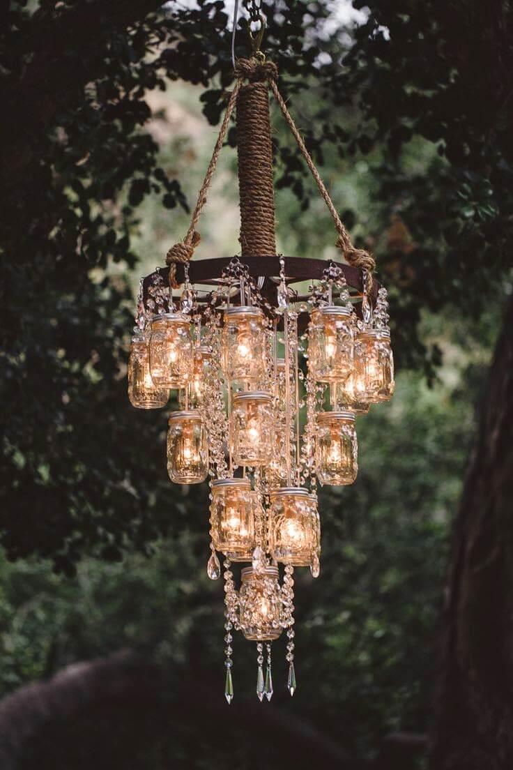 Creative and easy DIY outdoor lighting | DIY outdoor solar lights | DIY solar chandelier