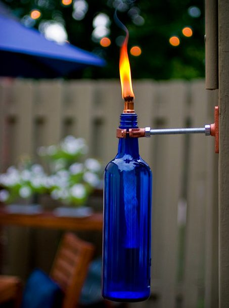 recycled bottle torch