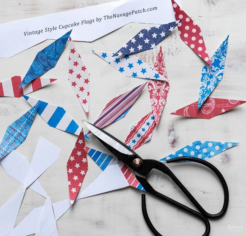 Vintage Style Patriotic Party Printables | Memorial Day and Fourth of July Free Printables Set | Free Printable Land That I Love Patriotic Wall Art | Free Printable Patriotic Banner | Free Printable Patriotic Cupcake Wrappers | Free Printables for Independence Day Party | #TheNavagePatch #GalleryWall #FreePrintable #Patriotic #PartyIdeas #4thofJuly | TheNavagePatch.com