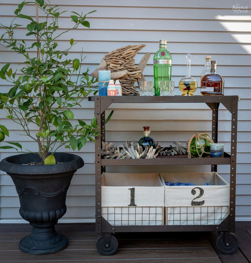 Industrial utility cart makeover   Upcycled industrial cart   How to easily clean rusty and grimy nuts and bolts   The best paint stripper   The safest paint stripper   How to remove paint from old furniture   How to easily strip paint   DIY industrial console cart   Upcycled vintage cart console   #TheNavagePatch #DIY #Industrial #industrialfurniture #DIYfurniture #coastal #farmhousedecor #furnituremakeover #paintedfurniture #farmhousestyle #upcycled #repurposed   TheNavagePatch.com