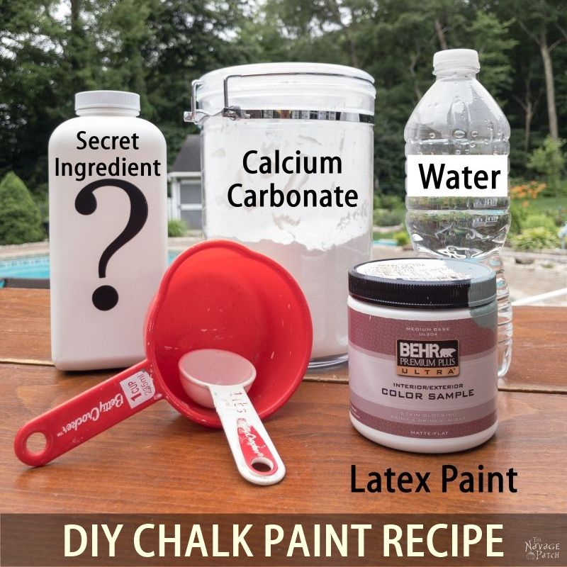 Homemade Chalk Paint Recipe | The best chalk paint recipe | Best DIY chalk paint recipe | How to make chalk paint | DIY Chalk paint recipe for paint sprayers | #TheNavagePatch #DIY #easydiy #Chalkpaint #DIYchalkpaint #homemade #paintedfurniture #paint #paintsprayer #furnituremakeovers | TheNavagePatch.com