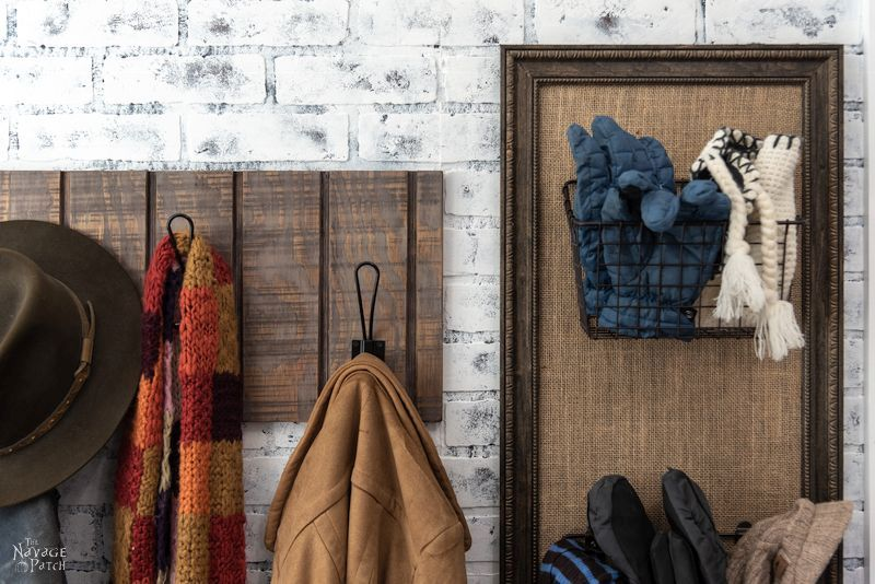 Simple DIY Coat Rack   DIY rental friendly wall mounted coat rack   How to build a simple coat rack in 10 minutes   How to get the aged wood look with stain   How to create a rustic look with wood stain   DIY 10 minute coat rack   #TheNavagePatch #easydiy #HowTo #diy #homedecor #rentalfriendly #inexpensive #weathered #organization   TheNavagePatch.com