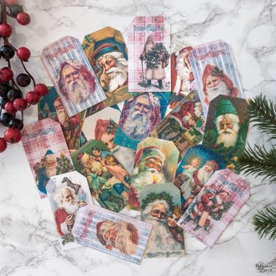 Free Vintage Santa Gift Tags by The Navage Patch