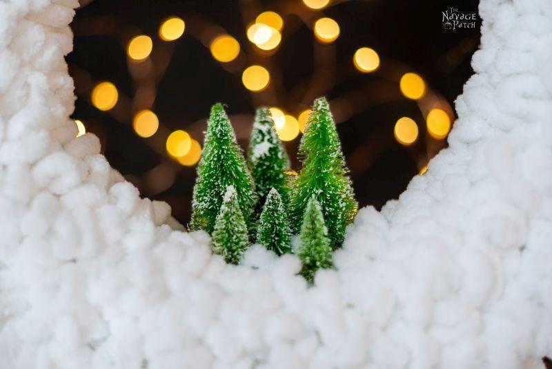 closeup of winter wreath