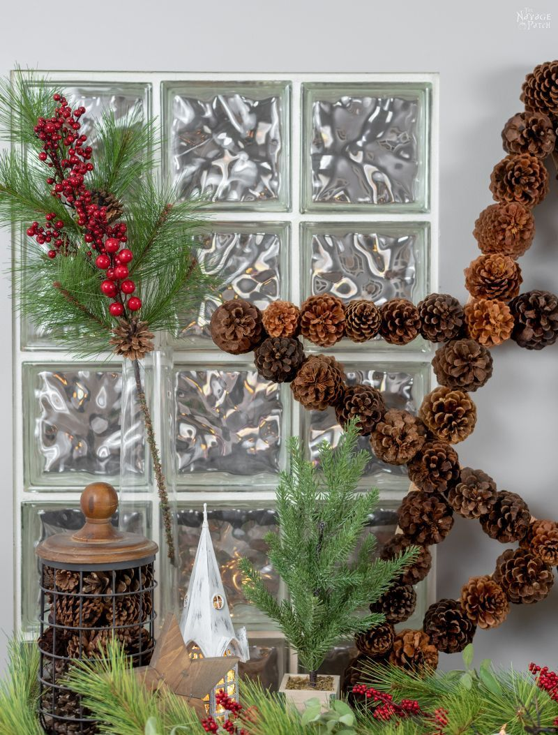 DIY Lighted Pine Cone Star | How to make a pine cone star | Easy pine cone Christmas decorations | Upcycled pine cone crafts | How to make a yardstick star in less than 5 minutes | #TheNavagePatch #DIY #easydiy #pinecone #Upcycled #Repurposed #Christmas # starpattern #Holidaydecor #DIYChristmas #yardstick #Holidays #star | TheNavagePatch.com