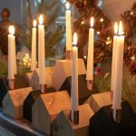 Diy Wood House Candle Holders The Navage Patch