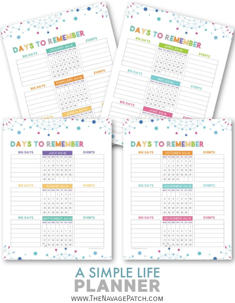 A Simple Life Planner Free Printable Planner The Navage Patch