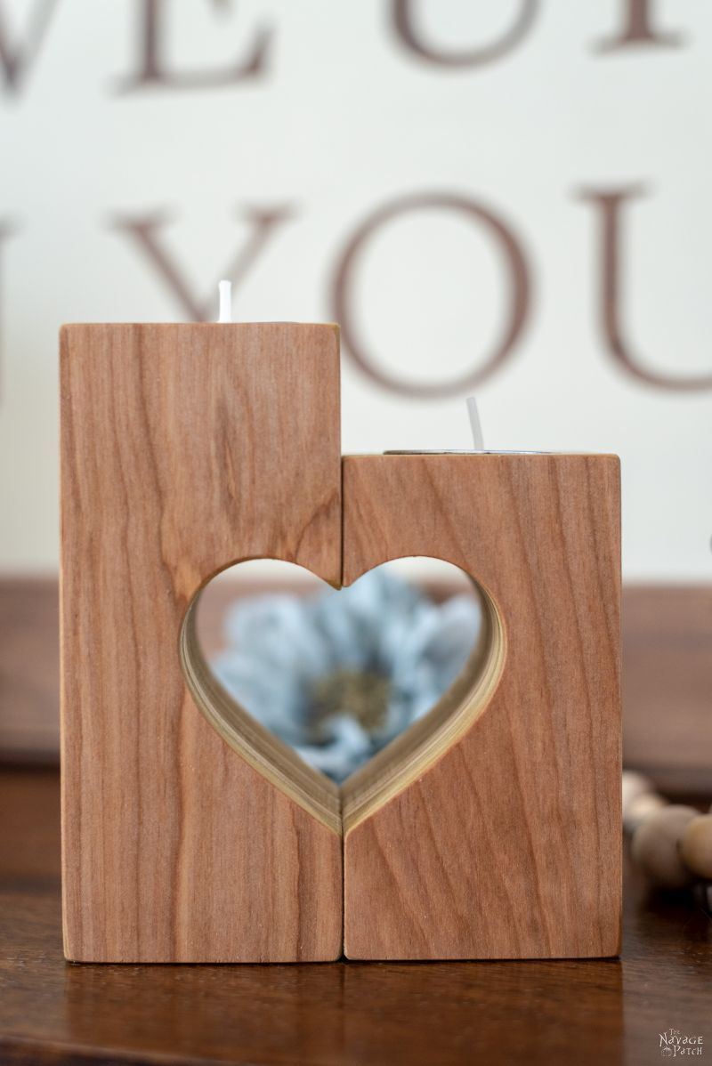 DIY Heart Candle Holders   DIY Valentine's day decor   DIY plywood candle holders with free plans   How to make heart candle holders the easy way   Free plans for heart candle holders   Heart candle holder free template   DIY farmhouse Valentines day decor   #thenavagepatch #easydiy #freeplans #farmhouse #DIY #valentinesday #valentinesdecor #heart #homedecor #freeprintable   TheNavagePatch.com