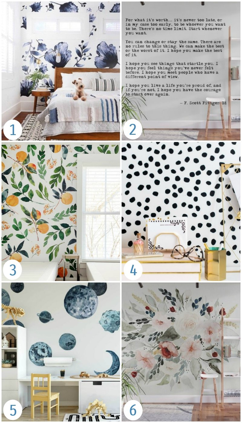 peel and stick removable wallpapers