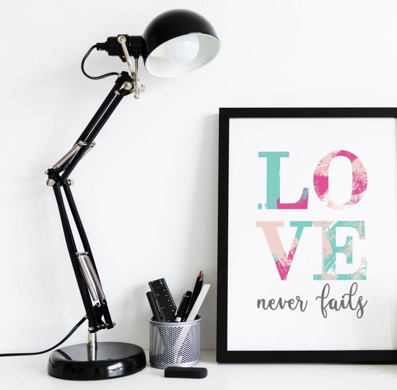 love never fails free printable