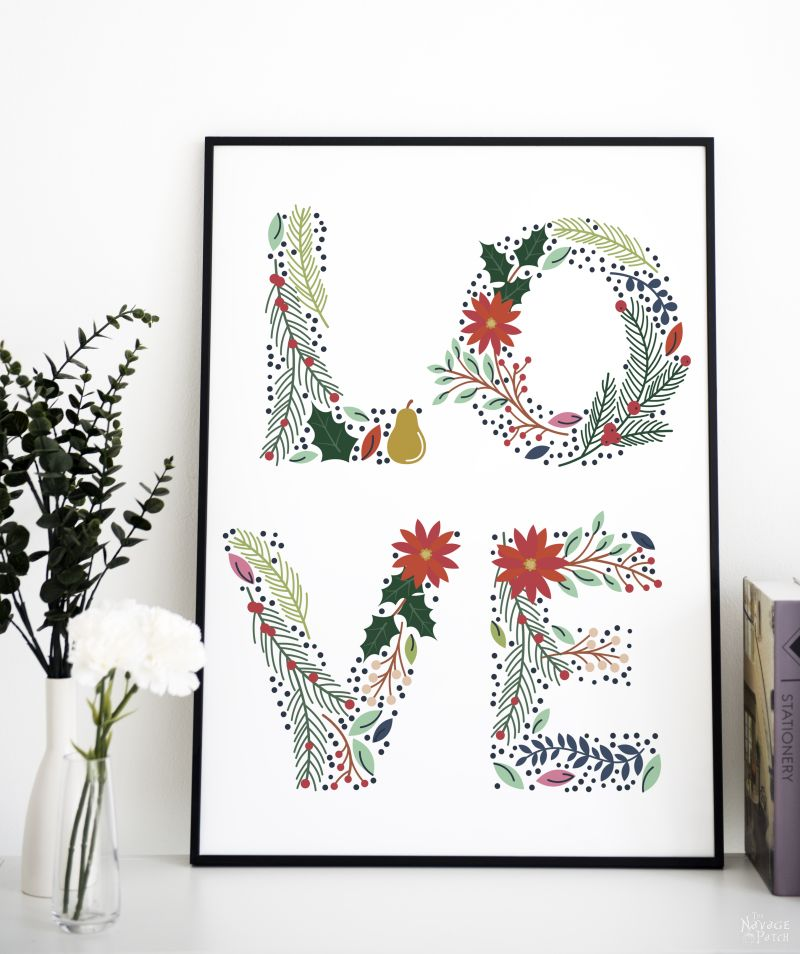 Free Printable Floral Love Letters