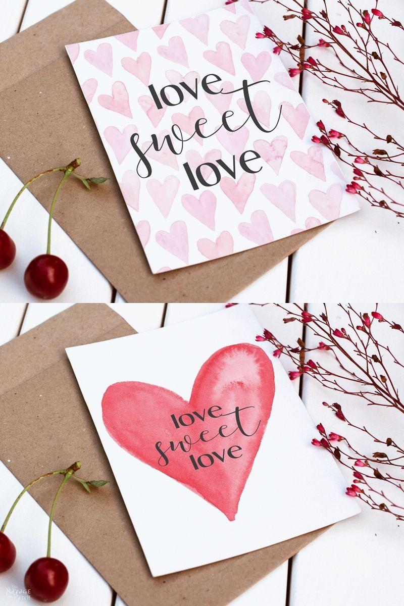 Love Sweet Love free Valentine's Day printables
