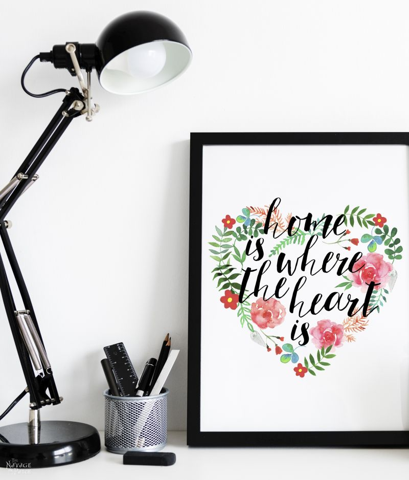Free Printable Home is where your heart is