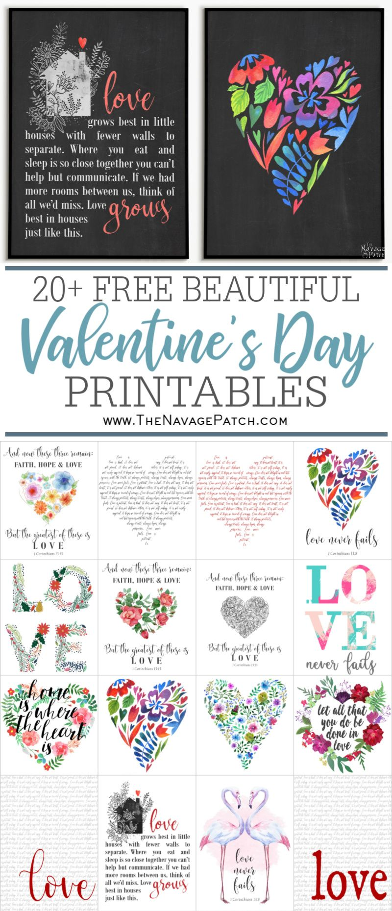 Free Valentine's Printables pin image