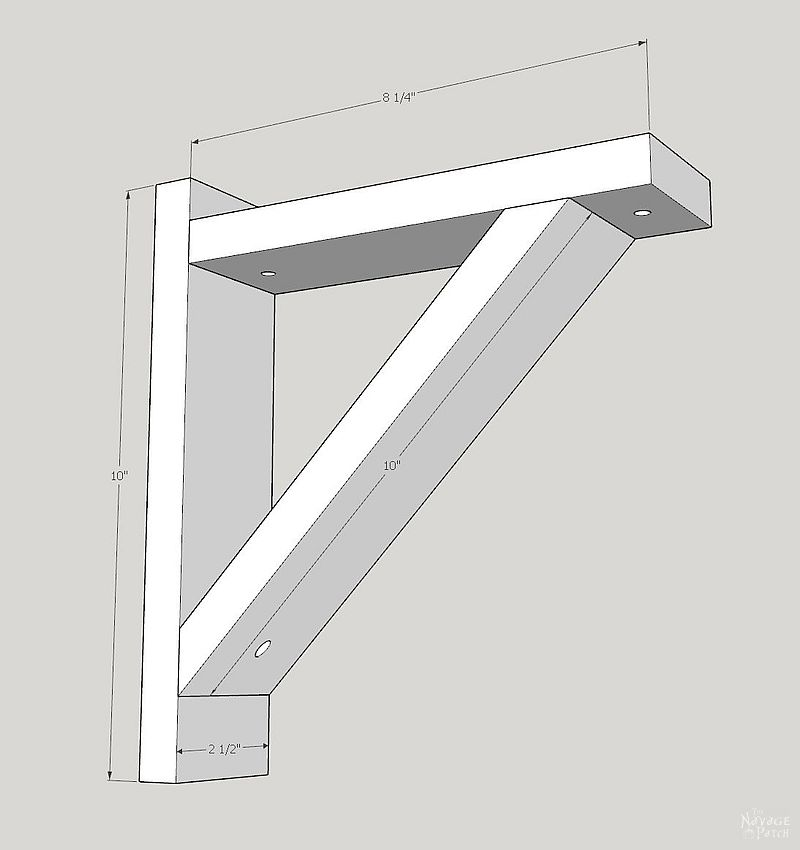 sketchup drawing of diy corbel sconces
