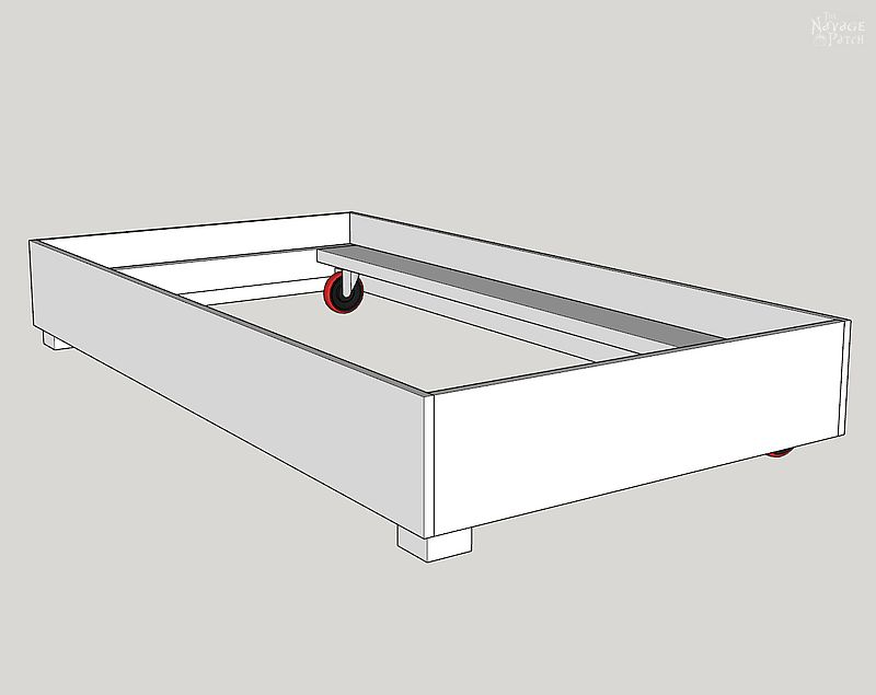computer generated plan of daybed