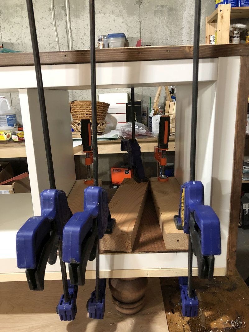 clamps on kallax tv stand